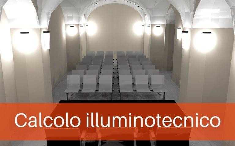 Calcolo illuminotecnico Chiesa S Antonio